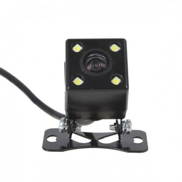 Universal Car Rear View Camera With 4 LED Lights