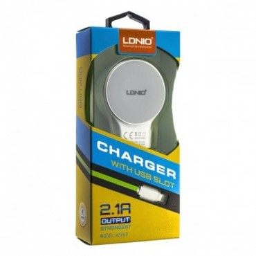 LDNIO DL-AC63 (2USB 2.4A) с кабелем iPhone 5 (High Copy)