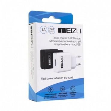MEIZU 2в1 (5V 1.5A) + кабель micro USB
