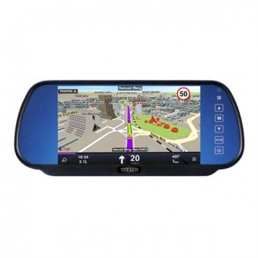 Car Rear View Mirror Monitor 7 Inch with Touch Buttons
