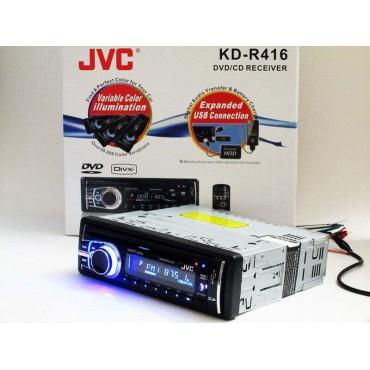 JVC KD-R416 DVD магнитола + USB+SD+AUX+FM (4x50W)